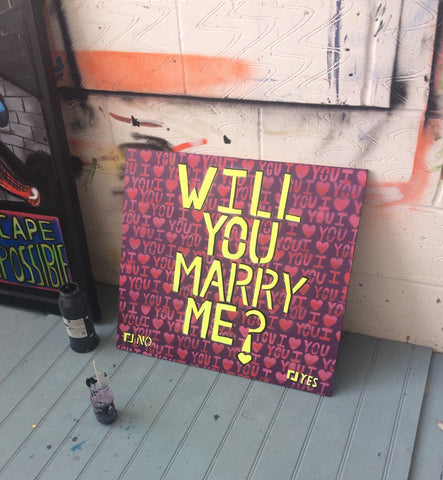 will you marry me ideas. proposal paintings, graffiti will you marry me, what a good idea for a proposal, thefts proposal ideas
