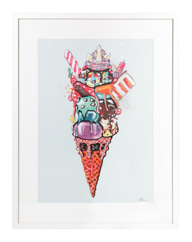Ice Cream Sundae Blue - Charlotte Posner