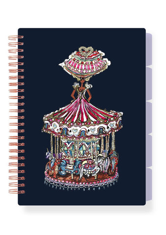 LIFE IS A MERRY GO ROUND A5 ORGANISER