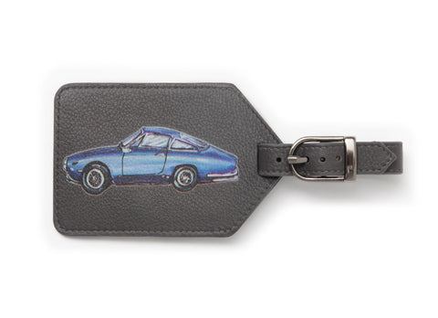 Leather Dark Grey Men's Car Luggage Tag - Coming Soon!