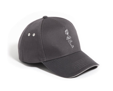 GREY YOGA CAP