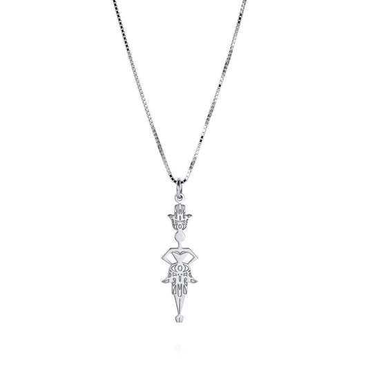 Hamsa necklace in sterling silver