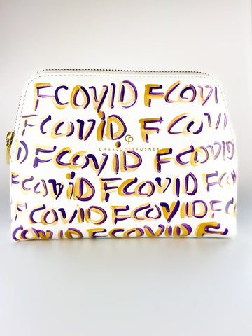 F COVID HAND PAINTED BAG