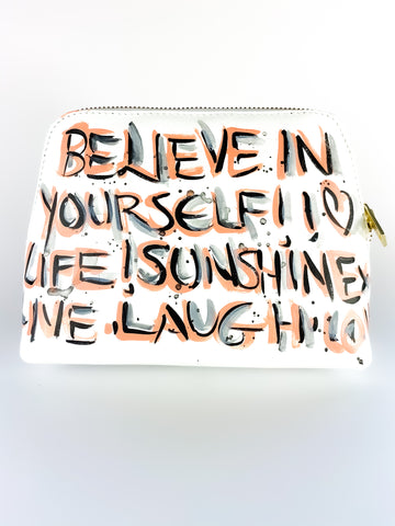 BELIEVE IN YOURSELF HAND PAINTED BAG
