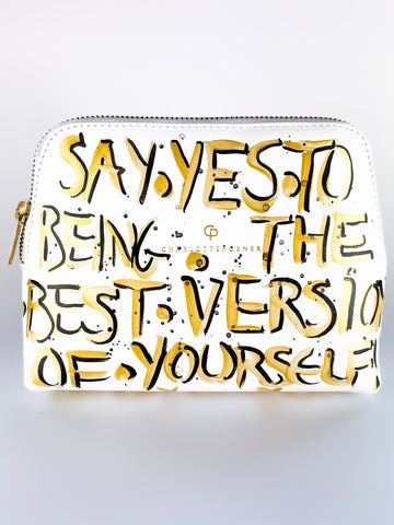 SAY YES HAND PAINTED BAG