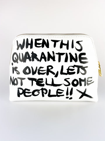 SHHH! HAND PAINTED BAG