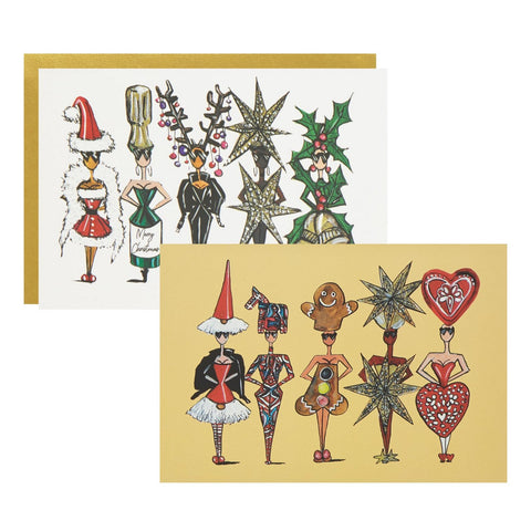 CHRISTMAS SIX PACK GREETINGS CARDS - Charlotte Posner