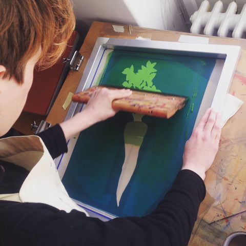 Tutorial: How to Screen Print a Parsnip – Lottie Day
