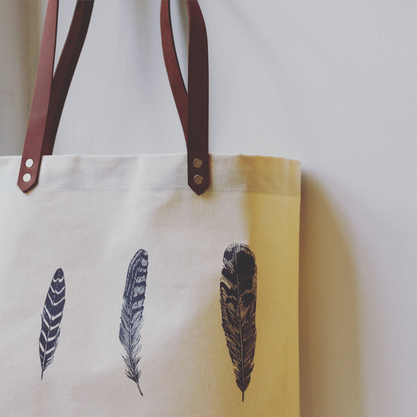 Lottie Day Feather Shopping Bag