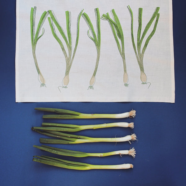 Spring Onion Tea Towel