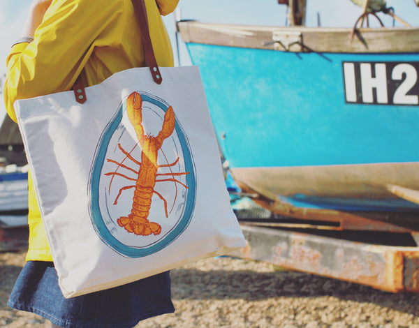 Lobster Shopping Bag Aldeburgh