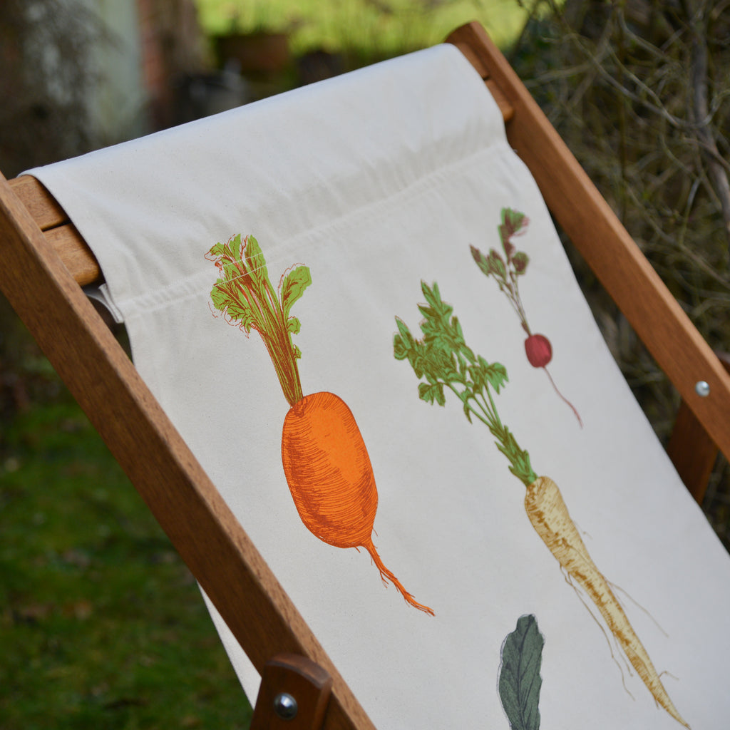Handmade screen printed Deck chair