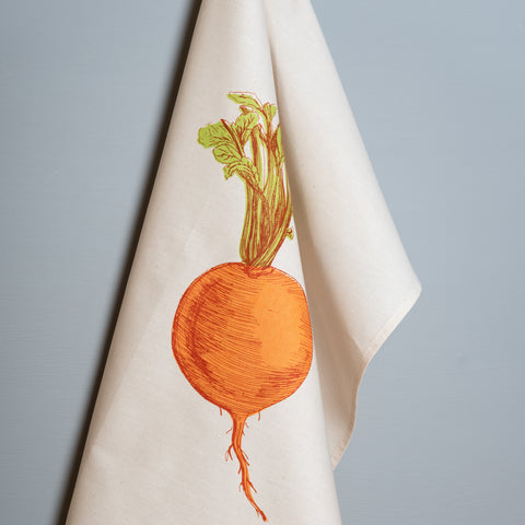 Orange Swede Vegetable Tea Towel