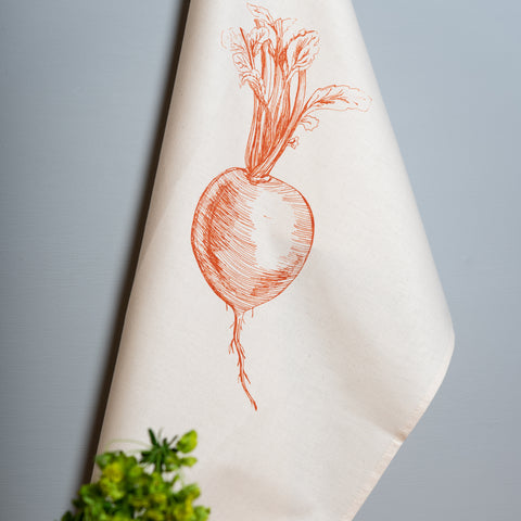 Orange Swede Veg Tea Towel