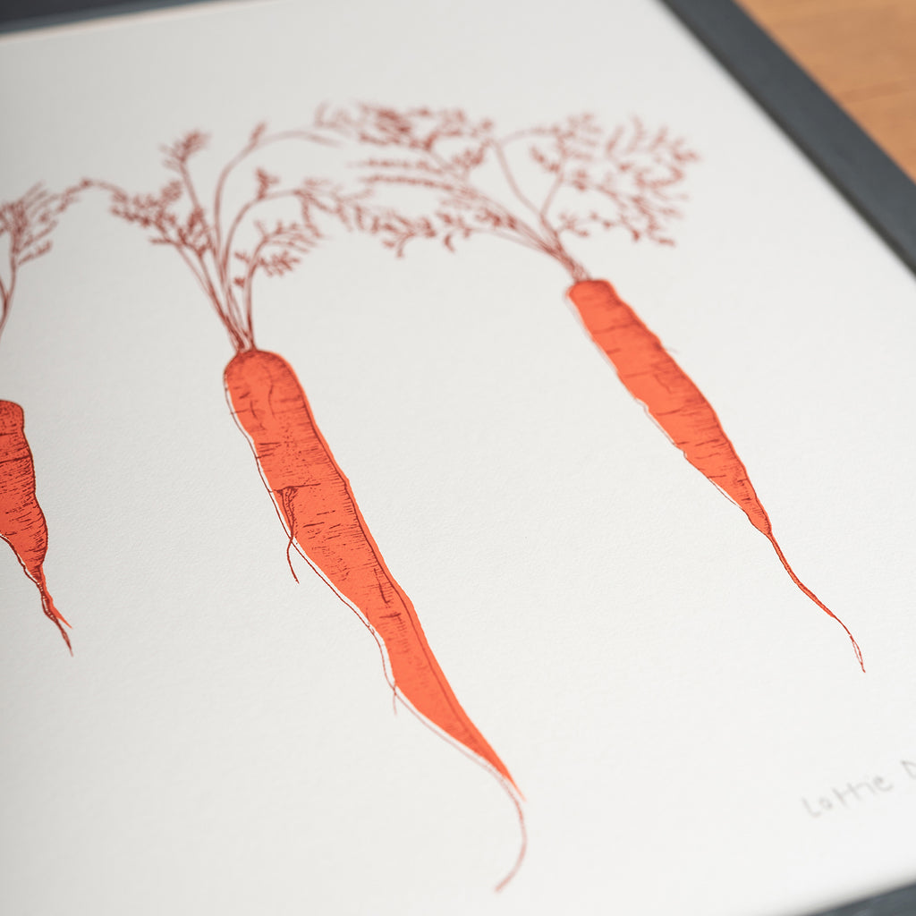 orange carrots vegetable framed wall art print