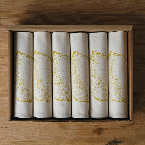 Lemon Napkin Gift Set