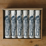 blue hare printed napkin gift set