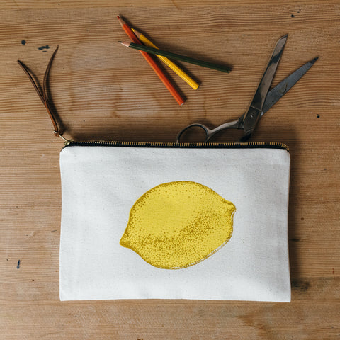 Lemon Zip Pouch