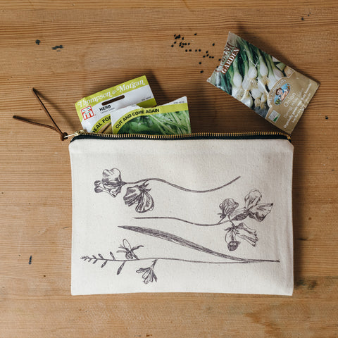 Vintage Flowers Pouch