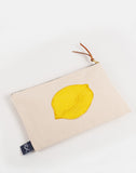 lemon zip pouch pencil case
