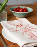printed red lobster napkin table place setting