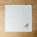 red robin christmas printed napkin gift