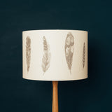 grey feather table lamp shade bird