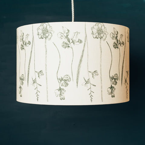 Green Garden Flowers Lampshade