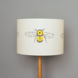 honey bumble bee themed design yellow drum lampshade