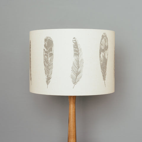 Grey Feather Lampshade