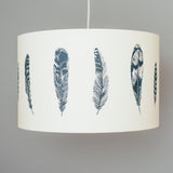 navy blue bird feather themed pendant lamp shade