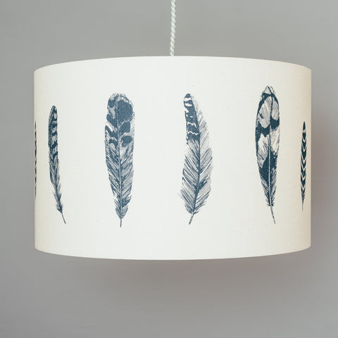 Blue Feather Lampshade