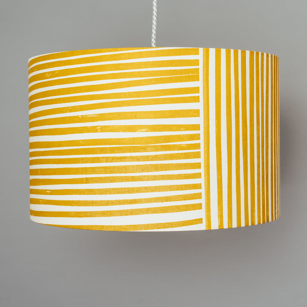 Yellow Stripe Lampshade