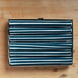 blue stripes placemat gift box