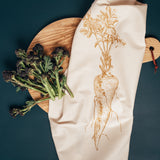parsnip garden vegetable kitchen tea towel
