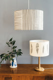 grey bird feather table lamp
