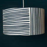 navy blue and white stripes pendant ceiling lampshade