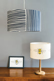 navy blue and white stripes pendant ceiling lampshade bee