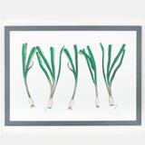 spring onion vegetable framed wall art print