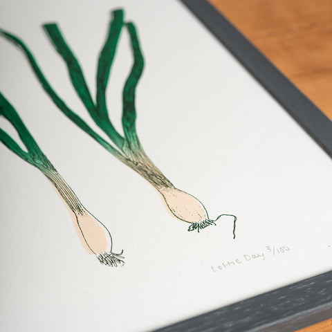 Spring Onion Garden Vegetable Framed Print