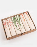 garden vegetable carrot spring onion radish napkin gift set