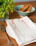 garden orange carrot printed napkin table place setting
