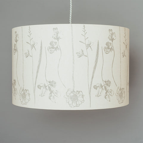 Grey Flowers Lampshade