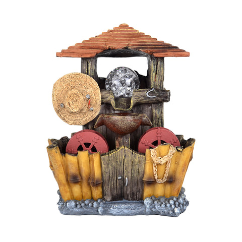 Hovel & Straw Hat Water Fountain #10495