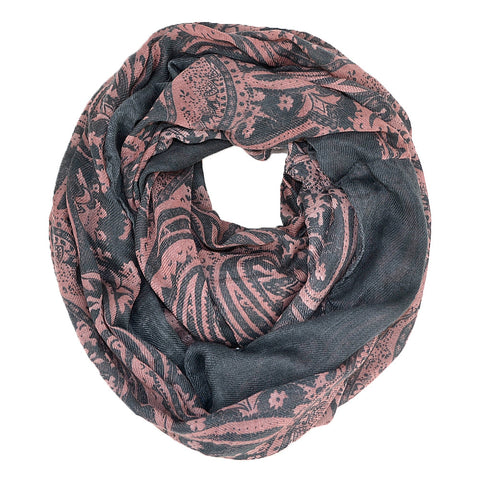 "67"" Paisley Wide Infinity Scarf"