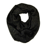 "64"" Solid Infinity Scarf with Gold or Silver Glitter"