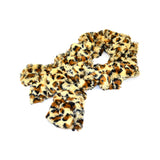 Leopard Collar Pull Through Wrinkle Scarf