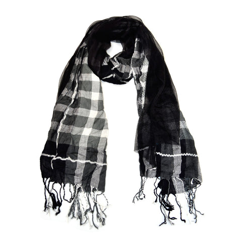 "72"" Plaids Checks Multi Color Checks Scarf"