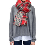 Plaids & Checks & Houndstooth Red Long Scarf