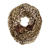 "64"" Leopard Cheetah Infinity Scarf"